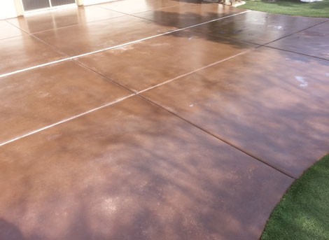 Stamped or Stained concrete restored